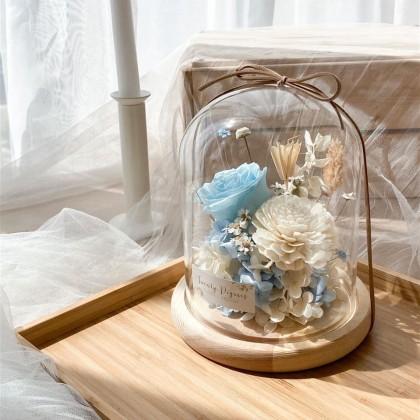 Adele Preserved Flower Bell Jar