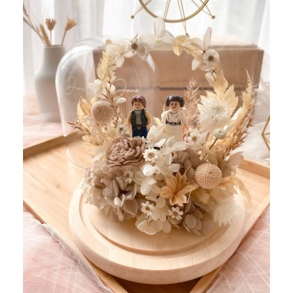 Infinity Love Preserved Flower Bell Jar