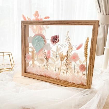 Elyse Preserved Flower Frame (Nationwide Delivery)