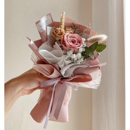 Maxine Preserved & Dried Flower Bouquet (Nationwide Delivery)