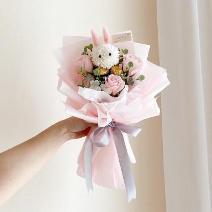 Bunny Soap Flower