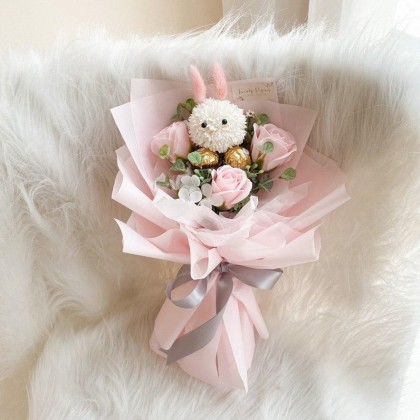 Bunny Soap Flower (Nationwide Delivery)