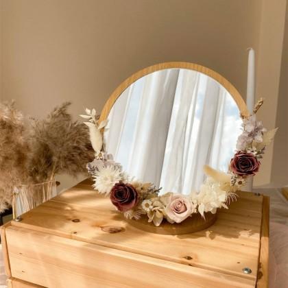 Josie Preserved Flower Mirror